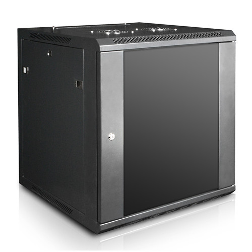 "iStarUSA Claytek WM1560-KBR1U Wallmount Server Cabinet with 1 RU Sliding Drawer (15 RU, 22"" Interior Depth)"