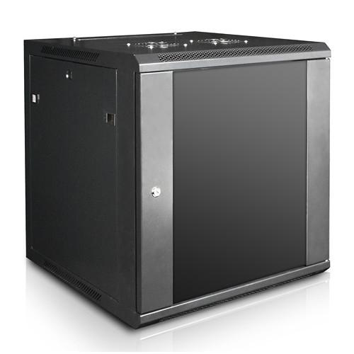 "iStarUSA Claytek WM1560-SFH25 Wallmount Server Cabinet with 1 RU Supporting Tray (15 RU, 22"" Interior Depth)"