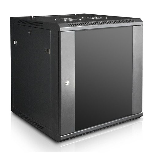 "iStarUSA Claytek WM1560-SFH25 Wallmount Server Cabinet with 1 RU Supporting Tray (15 RU, 22"" Interior Depth)"