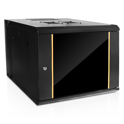 iStarUSA Claytek WMZ955-SFH25 Swing-Out Wallmount Server Cabinet with 1 RU Supporting Tray (9 RU)