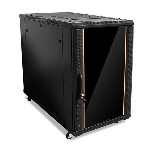 iStarUSA Claytek WNG1810-SFH25 Knock-Down Server Cabinet with 1 RU Supporting Tray (18 RU)