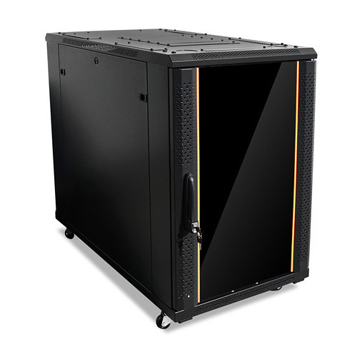 iStarUSA Claytek WNG1810-SFH25 Knock-Down Server Cabinet with 1 RU Supporting Tray (18 RU)