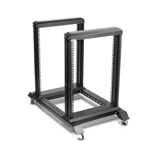 iStarUSA WO15AB-PD12 15 RU, 4-Post, Open-Frame Rack with 10-Outlet Power Strip