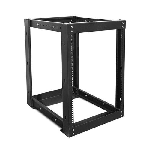 iStarUSA WOR-1511 Adjustable, Open-Frame Server Rack (15 RU, Black)