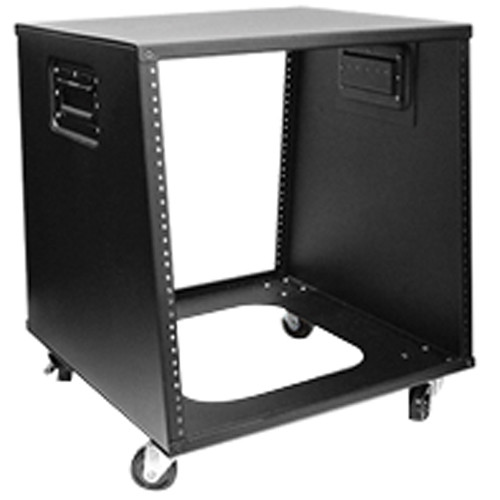 iStarUSA WZ-1050 10U 500mm Depth Sloping Media Rack (Black)