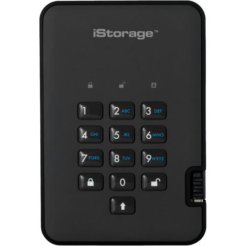 Istorage 1TB diskAshur2 USB 3.1 Encrypted Portable HDD (Phantom Black)