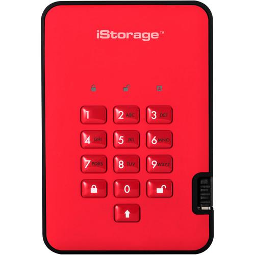 Istorage 2TB diskAshur2 USB 3.1 Encrypted Portable HDD (Fiery Red)