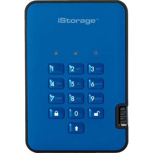 Istorage 128GB diskAshur2 USB 3.1 Encrypted Portable SSD (Ocean Blue)