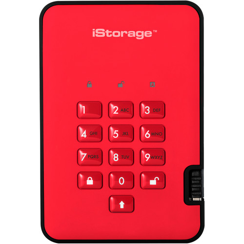 Istorage 2TB diskAshur2 USB 3.1 Encrypted Portable SSD (Fiery Red)
