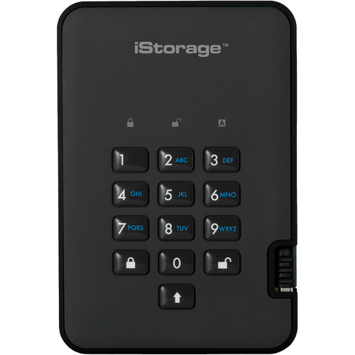 Istorage 256GB diskAshur2 USB 3.1 Encrypted Portable SSD (Phantom Black)