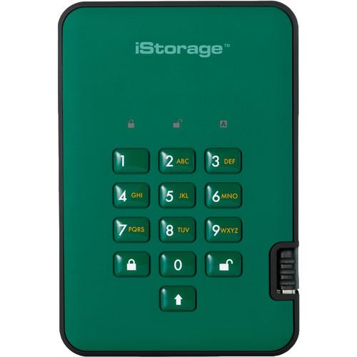 Istorage 256GB diskAshur2 USB 3.1 Encrypted Portable SSD (Racing Green)