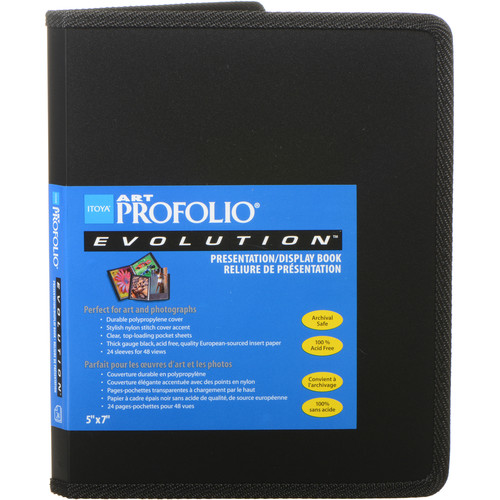 "Itoya 5 x 7"" Art Profolio Evolution Presentation & Display Book"