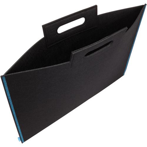 """Itoya Midtown Bag Large Format Artwork Carrier (14 x 21"""", Black/Blue)"""
