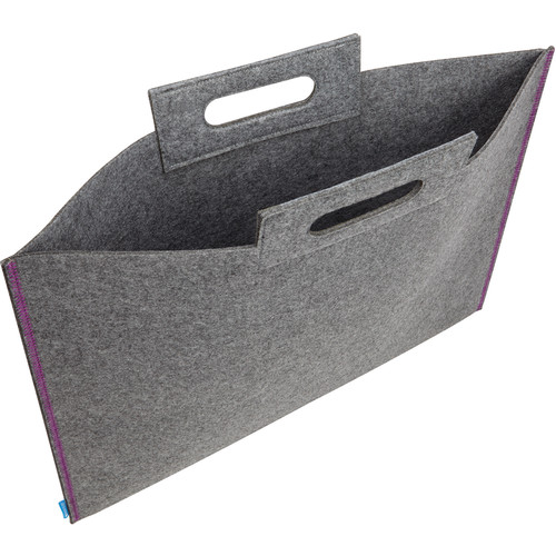 "Itoya Midtown Bag Large Format Artwork Carrier (14 x 21"", Gray/Purple)"