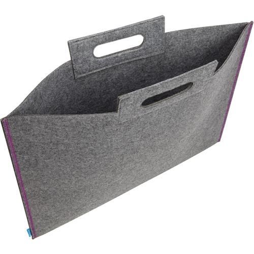 "Itoya Midtown Bag Large Format Artwork Carrier (17 x 23"", Gray/Purple)"
