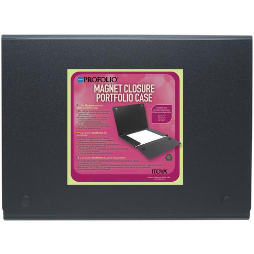 """Itoya ProFolio Magnet Closure Portfolio Case (11 x 17"""", Black)"""