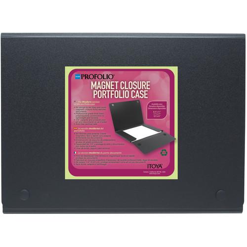 """Itoya ProFolio Magnet Closure Portfolio Case (18 x 24"""", Black)"""