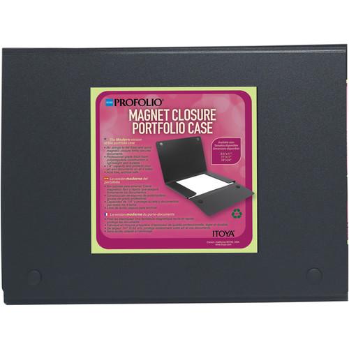 """Itoya ProFolio Magnet Closure Portfolio Case (8.5 x 11"""", Black)"""