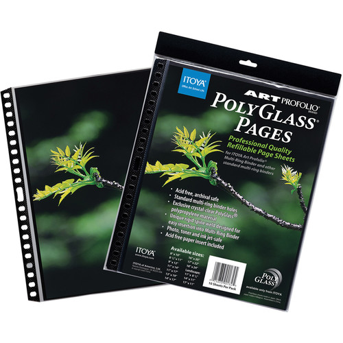 "Itoya Art Portfolio PolyGlass Pages (11 x 17"", 10-Pack)"