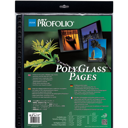 "Itoya Art Profolio PolyGlass Pages (9 x 12"", 10-Pack)"