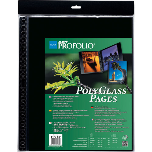 """Itoya Art Profolio PolyGlass Pages (11.7 X 16.5"""", 10-Pack)"""