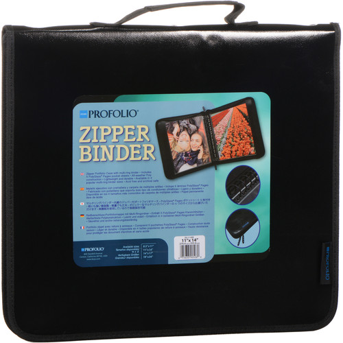 "Itoya Zipper Portfolio Case with Multi-Ring Binder (11 x 14"")"