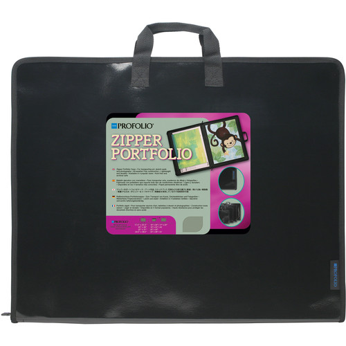 "Itoya Zipper Portfolio Case for Art, Sketch Pads, and Photographs (17.5 x 22.5"")"