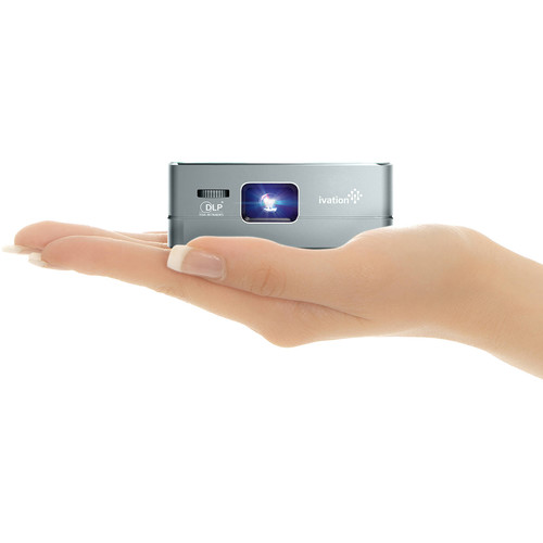 Ivation Pro3 Portable Rechargeable Smart DLP Projector (Gray)