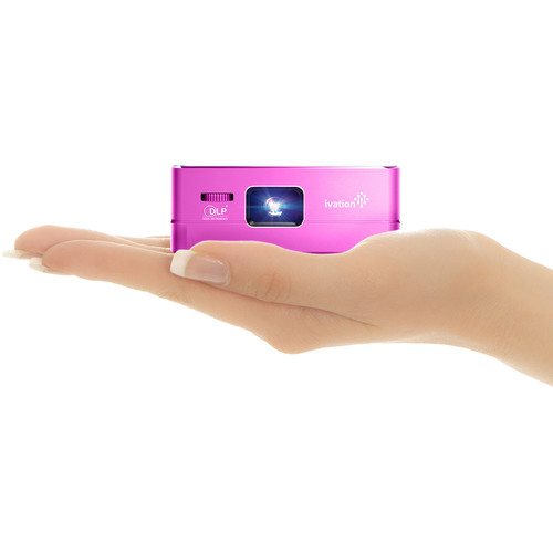 Ivation Pro3 Portable Rechargeable Smart DLP Projector (Purple)