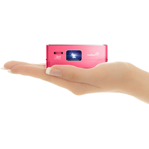 Ivation Pro3 Portable Rechargeable Smart DLP Projector (Red)