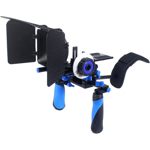 Ivation Rig System for DSLR or Video Camera (Blue)