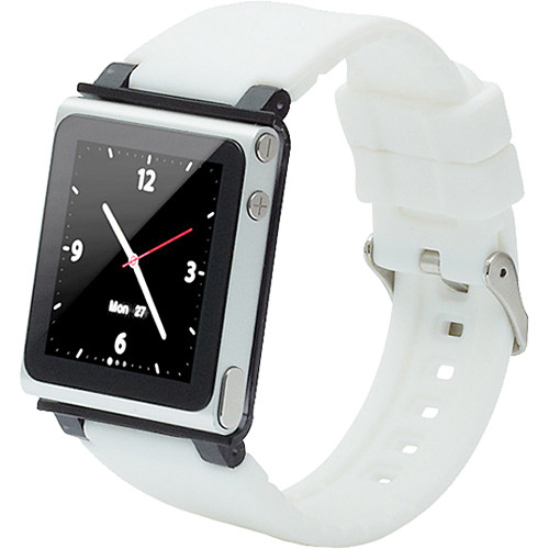 iwatchz Q Collection Watch Band for 6th Generation iPod nano (White)