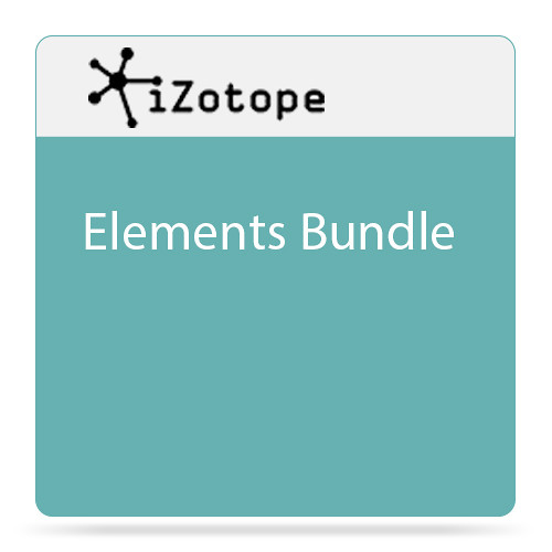 iZotope Elements Bundle Software for Repairing, Mixing & Mastering Audio (Download)