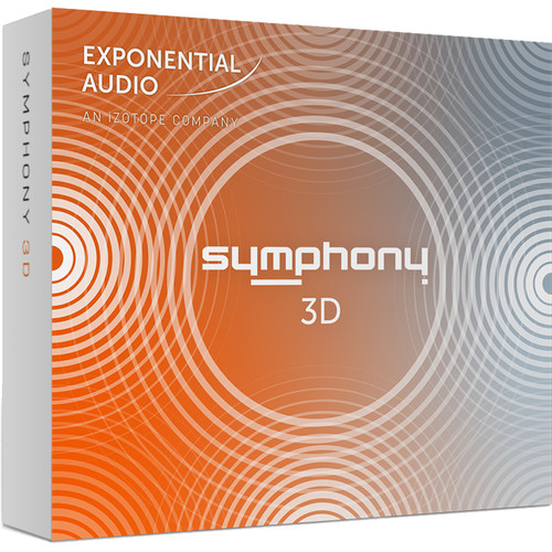 iZotope Exponential Audio Symphony 3D - Algorithmic Reverb for Stereo, Surround, or Immersive Audio Applications (Download)