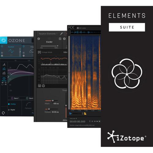 iZotope Elements Suite Software for Repairing, Mixing & Mastering Audio (Crossgrade, Download)