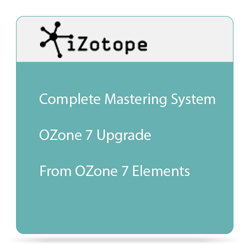 iZotope Ozone 7 Upgrade - Mastering Software (Download)