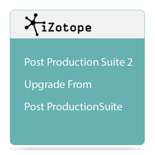 iZotope iZotope RX Post Production Suite 2 - Audio for Post Software Bundle (Upgrade from Post Production Suite 1, Download)
