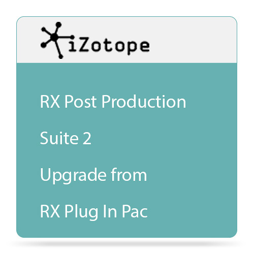 iZotope iZotope RX Post Production Suite 2 - Audio for Post Software Bundle (Upgrade from RX Plug-in Pack, Download)