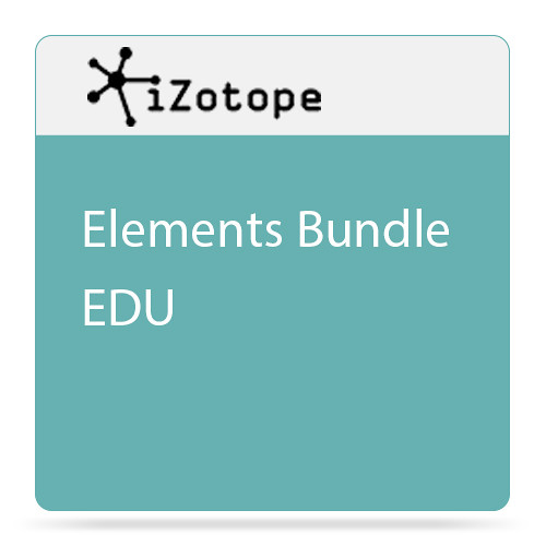 iZotope Elements Bundle - Software for Repairing, Mixing & Mastering Audio (Educational, Download)
