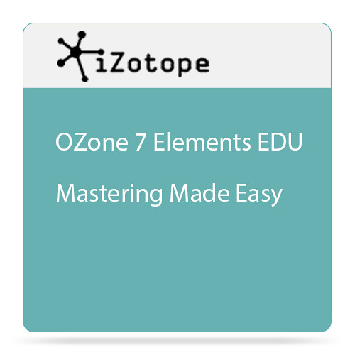 iZotope Ozone 7 Elements - Mastering Software for Beginners (Educational, Download)