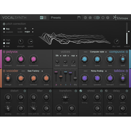 iZotope VocalSynth - Vocal Resynthesis and Harmony Generation Software (Educational Download)