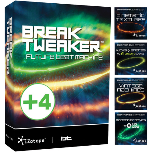 iZotope BreakTweaker Expanded - Virtual Drum Machine with Expansion Packs (Educational Download)