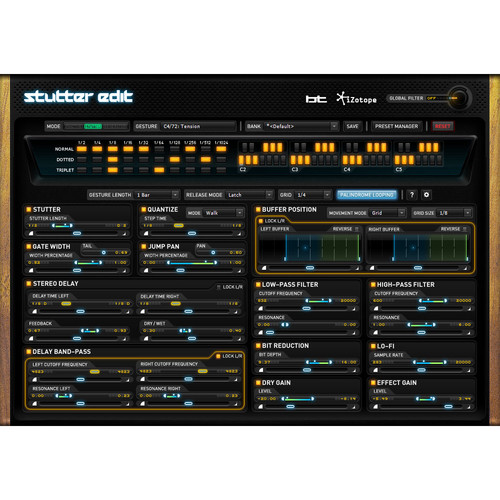 iZotope Stutter Edit - Audio Slicing and Manipulation Plug-In (Educational Download)