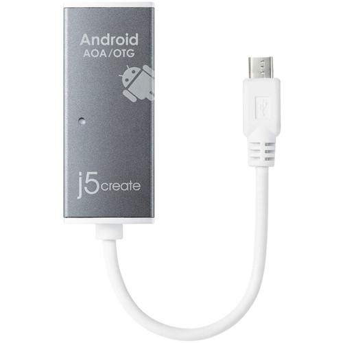j5create 2-Port USB 2.0 Android Open Accessory (AOA)/On The Go (OTG) Hub