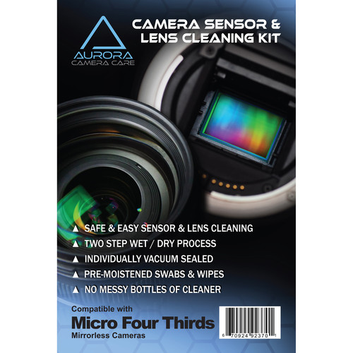 J.Cristina Photography Tools Aurora Camera Care Sensor and Lens Cleaning Kit Bundle (Micro Four Thirds)