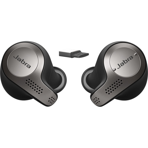 Jabra Evolve 65t UC True Bluetooth Earbuds (Titanium Black)
