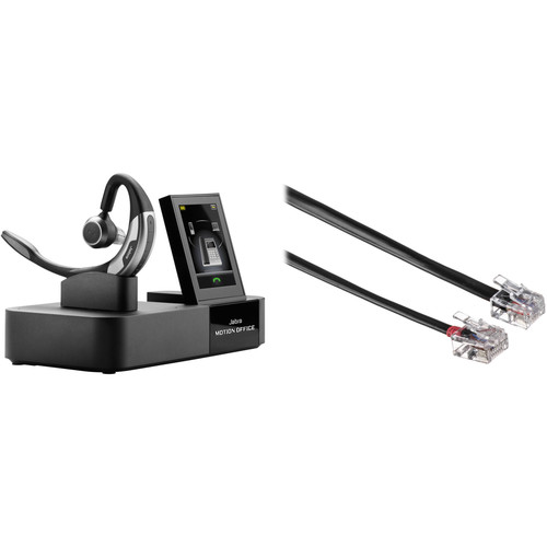 Jabra MOTION OFFICE Bluetooth Wireless Earpiece with EHS Headset Adapter