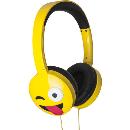 jam HX-HPEM01 Jamoji On-Ear Wired Headphones (Yellow, Just Kidding)
