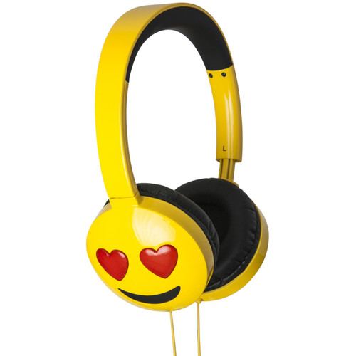 jam HX-HPEM03 Jamoji On-Ear Wired Headphones (Yellow, Love Struck)