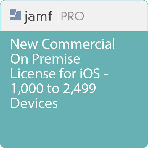 Jamf Commercial - New/  Jamf Pro On Premise  License for iOS - 1000 to 2499 Devices